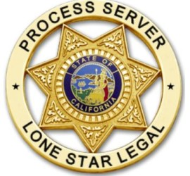 Lone Star Process Server Badge Image